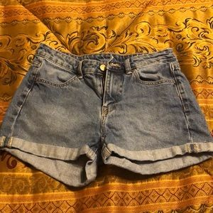Denim shorts from H & M